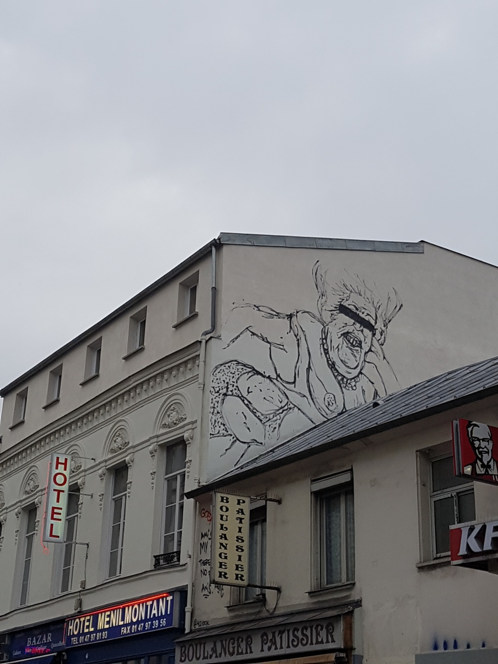 kraken street art paris menilmontant