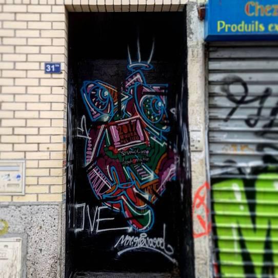 mr renard street art graffiti paris