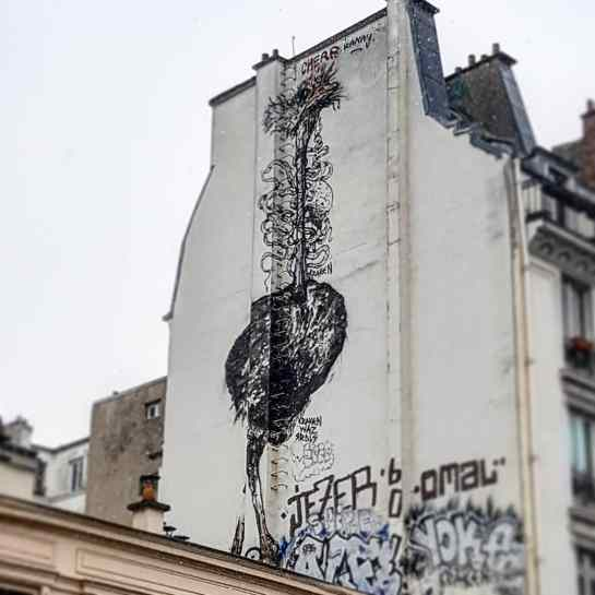kraken bonom paris graffiti