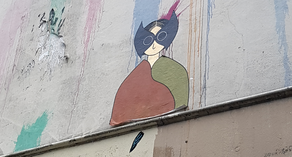 kamlaurene street art collage paris