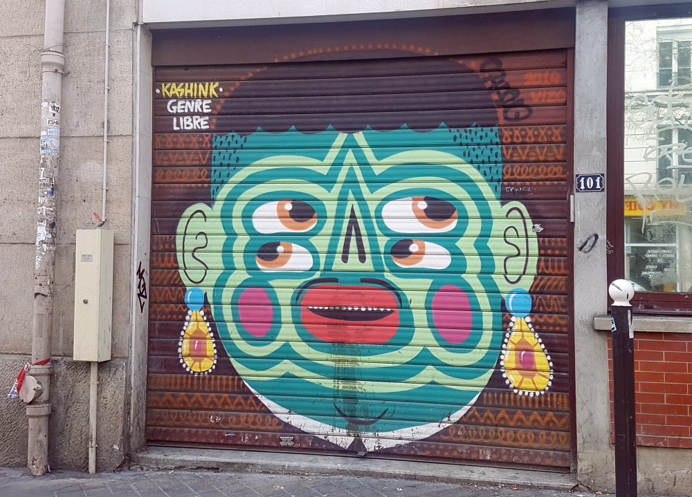 kashink street art graffiti rue pyrenees