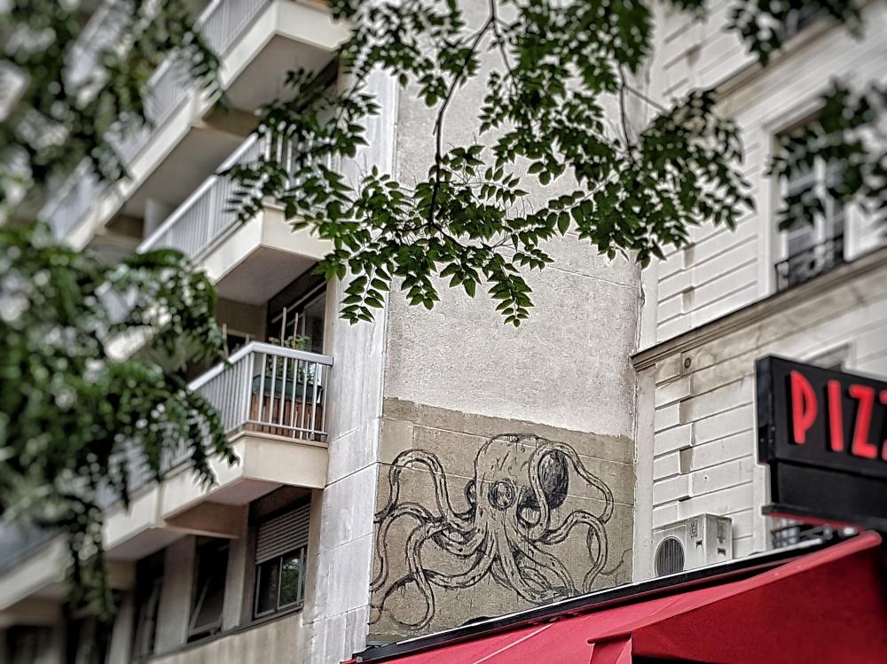 kraken street art paris avenue parmentier