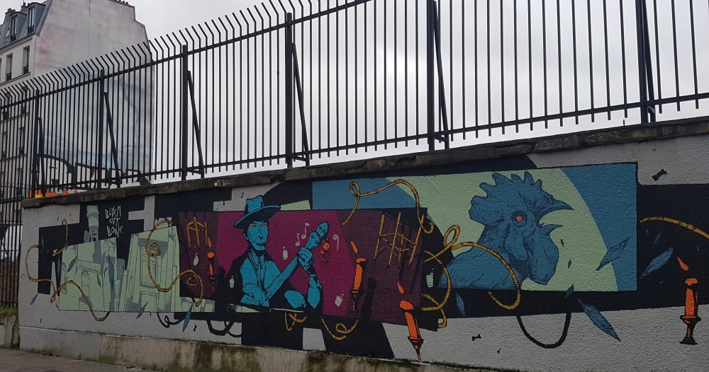 retro street art pere lachaise