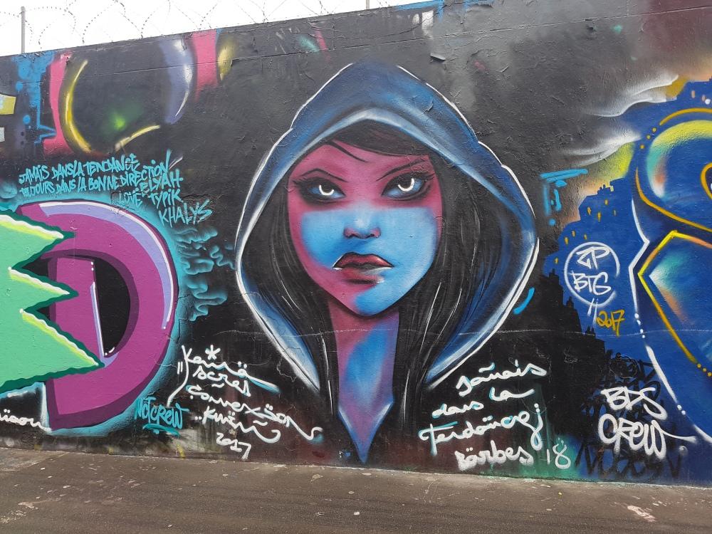 street art graffiti rue ordener pariis