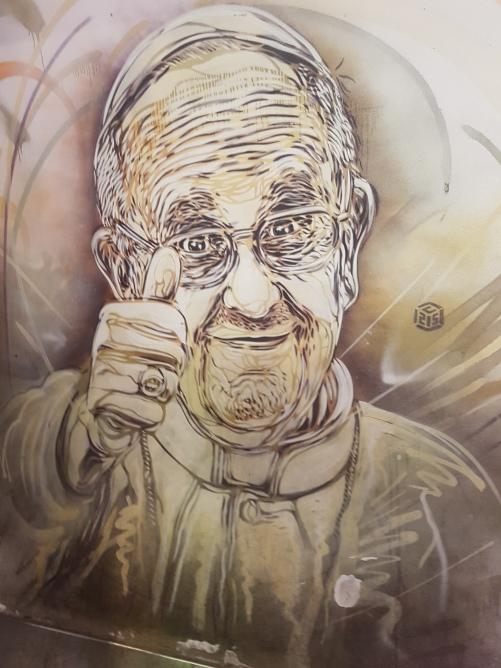 christian guemy street art rome piazza spagna