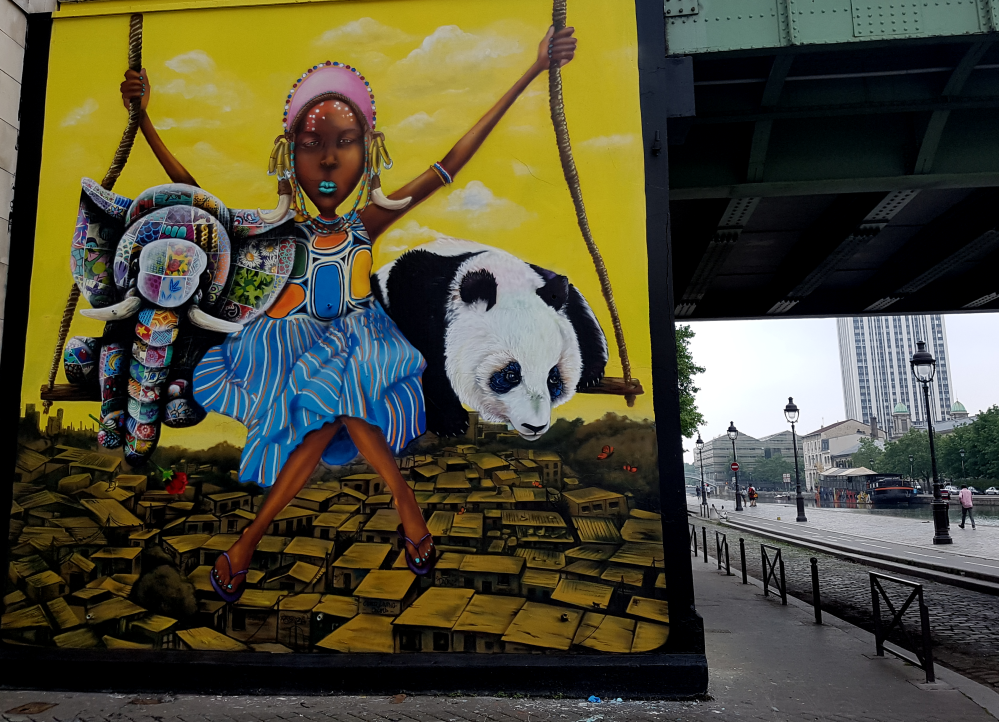 doudou breeze masai street art paris