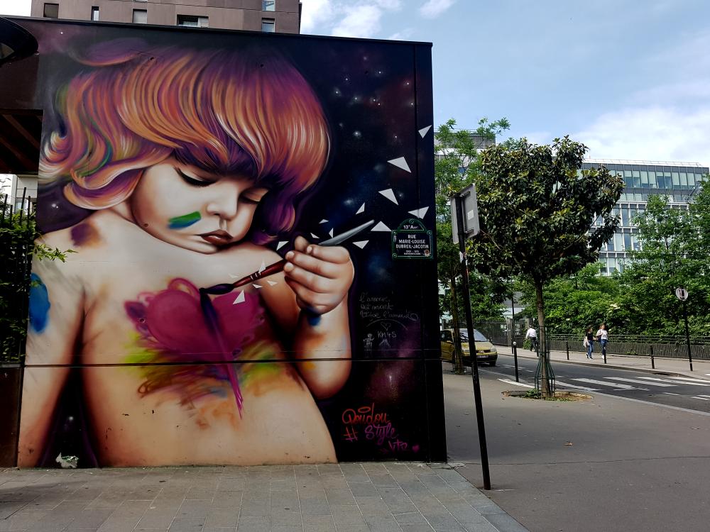 doudoustyle street art paris 13