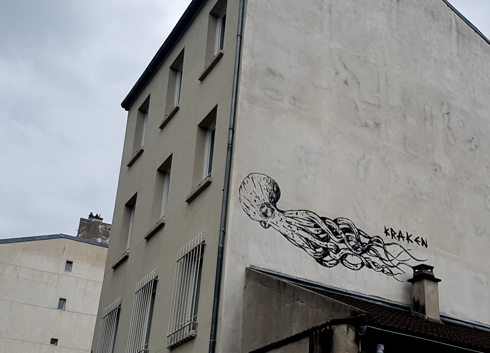 street art kraken paris 13