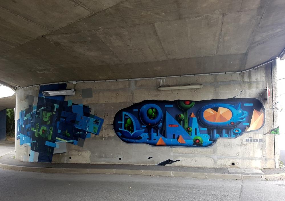 dino street art vannes