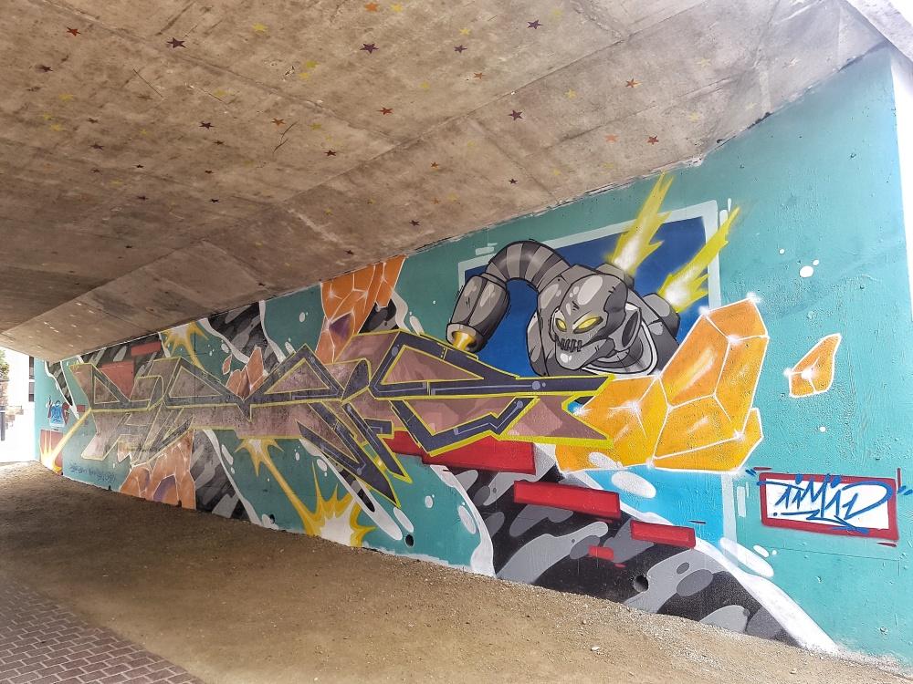 timid street art vannes