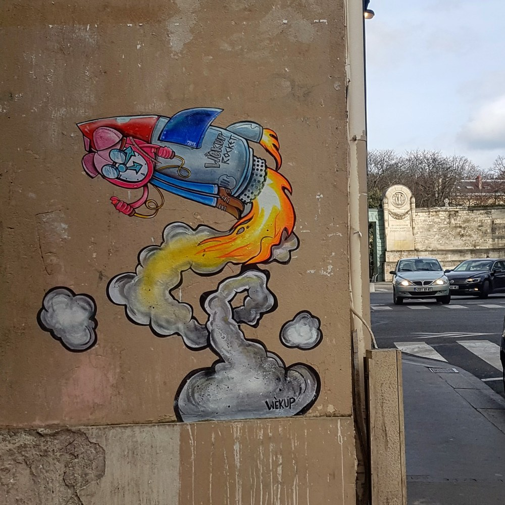 Wekup graffiti roquette