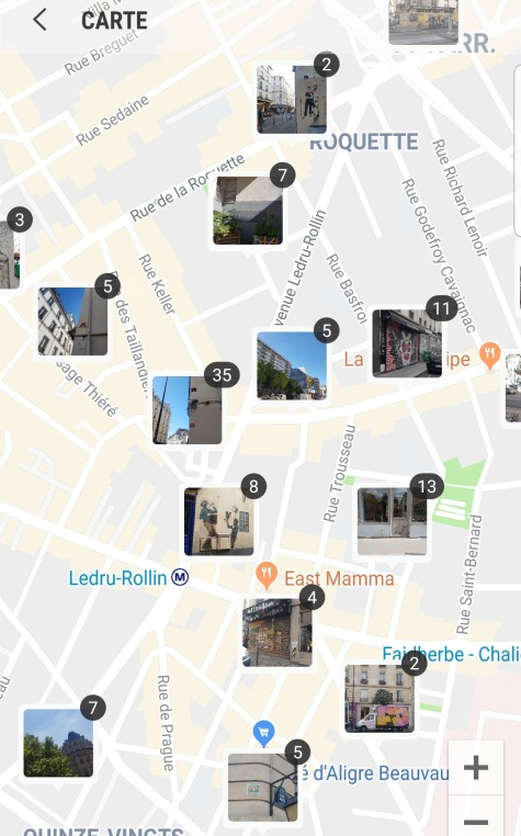 map street art paris roquette